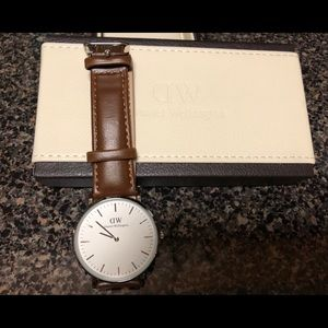 Ladies Brown Leather Strap Watch